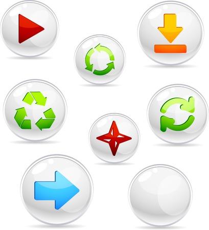 Arrows 3d icons. Vector illustration.  Vector