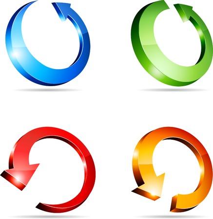 Set of arrows. Vector illustration. Stock Vector - 5219967