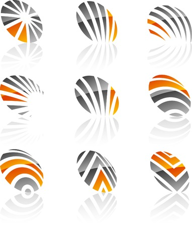 Abstract company symbols. Vector illustration. Stock Vector - 5219957