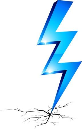 Blue flash symbol. Vector illustration. Stock Vector - 5219951