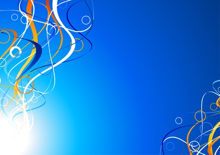 Luminous abstract background. Vector illustration. Stock Vector - 5219956