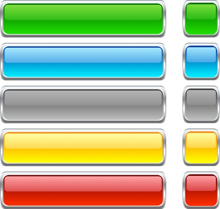 variations set: Web shiny buttons. Vector illustration.  Illustration