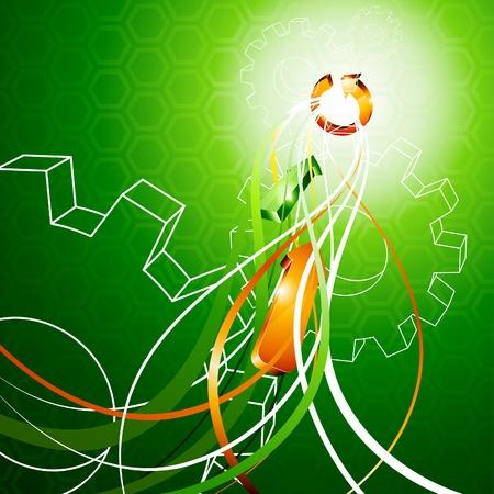 Luminous abstract background. Vector illustration.  Vector