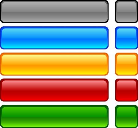 buttons: Pulsanti Web lucido. Vector illustration. Vettoriali