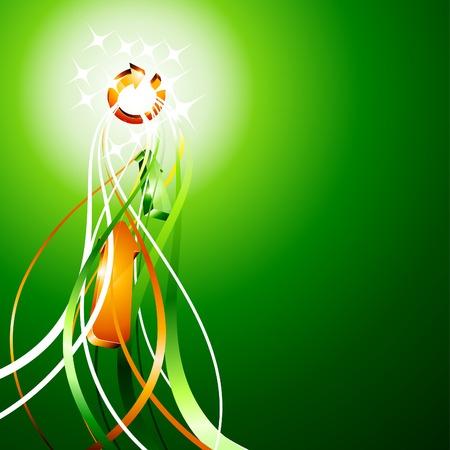 složení: Luminous abstract background. Vector illustration.