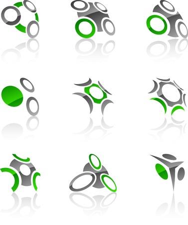 Resumen empresa símbolos. Ilustración vectorial. Foto de archivo - 5262269