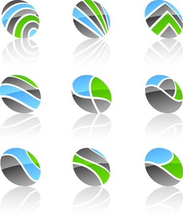 Abstract company symbols. Vector illustration. Stock Vector - 5262288