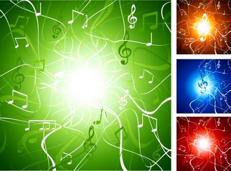 luminous: Luminous music backgrounds. Vector illustration.  Illustration