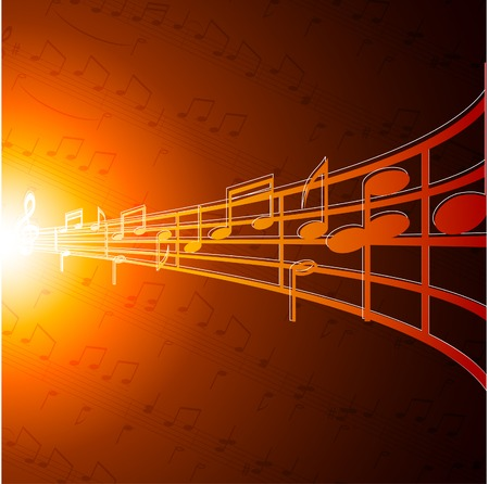Music notes wallpaper. Vector illustration.