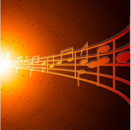 Music notes wallpaper. Vector illustration.