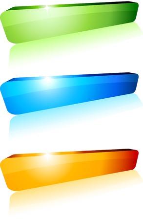 3d shiny buttons. Vector illustration.  Vector