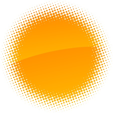 toned: Orange halftone sun. Vector illustration.  Illustration