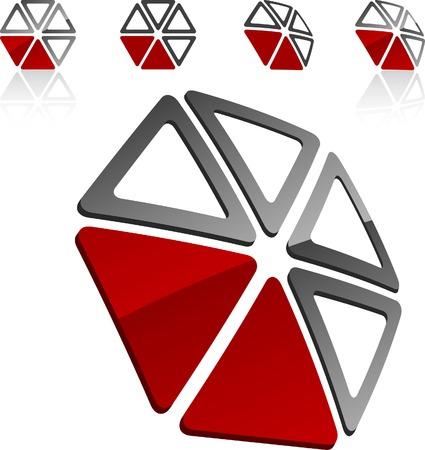 Abstract company symbol. Vector illustration. Stock Vector - 5282050