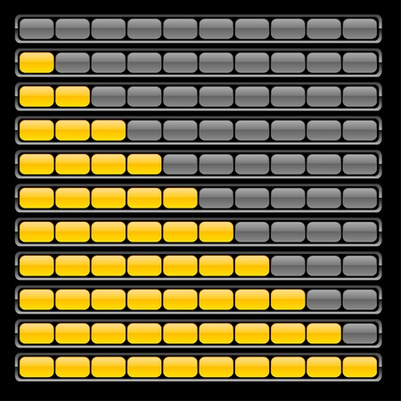 Realistic loading indicators. Vector illustration.  Stock Vector - 5282049