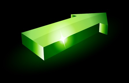 green luminous arrow. Vector illustration. Stock Vector - 5282048