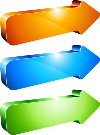 3d shiny arrows. Vector illustration. Stock Vector - 5282052