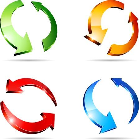 refreshing: Set of arrows. Vector illustration.