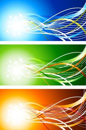 luminous: Luminous abstract backgrounds. Vector illustration.
