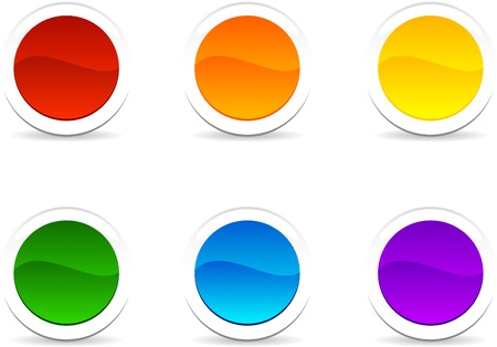 Web shiny buttons. Vector illustration. Stock Vector - 5288816