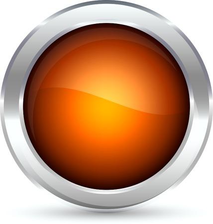Web shiny button. Vector illustration.  Stock Vector - 5288819
