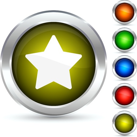 Star detailed button. Vector illustration.  Vector