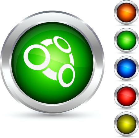 Tie detailed button. Vector illustration.  Vector