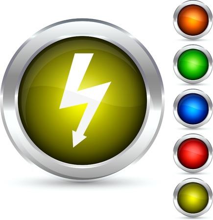 flash detailed button. Vector illustration. Stock Vector - 5298549