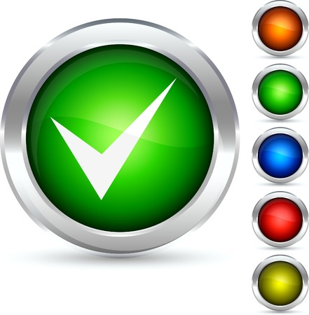 Validation detailed button. Vector illustration. Stock Vector - 5298552