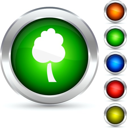 Tree detailed button. Vector illustration.  Vector