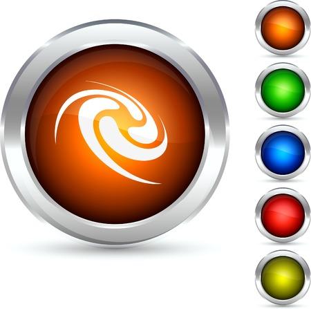 Swirl  detailed button. Vector illustration.  Vector