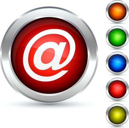 Arroba detailed button. Vector illustration.  Stock Vector - 5304246