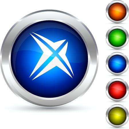 Star detailed button. Vector illustration. Stock Vector - 5304238