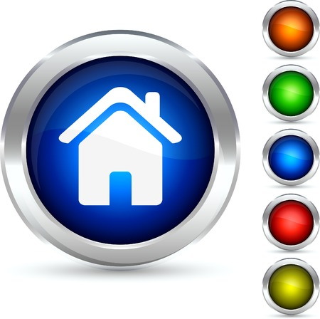 Home detailed button. Vector illustration. Stock Vector - 5304245