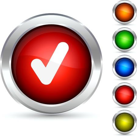 check detailed button. Vector illustration. Stock Vector - 5307867