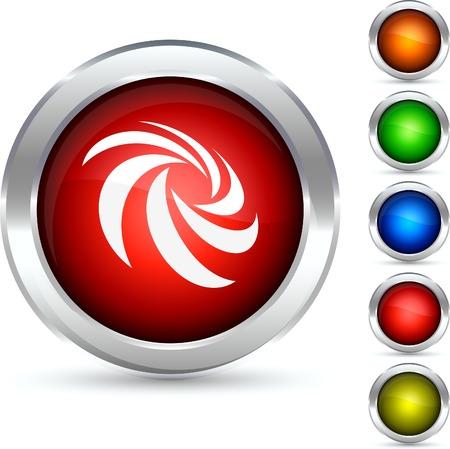Rotation detailed button. Vector illustration. Stock Vector - 5307873