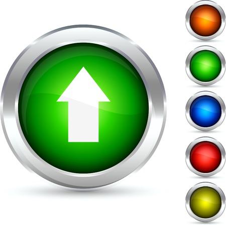 Upload detailed button. Vector illustration. Stock Vector - 5307871