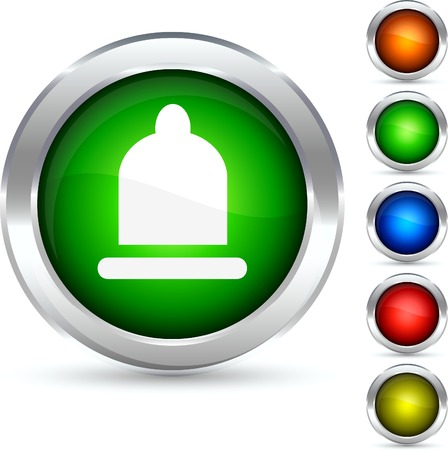 Safety detailed button. Vector illustration.  Vector