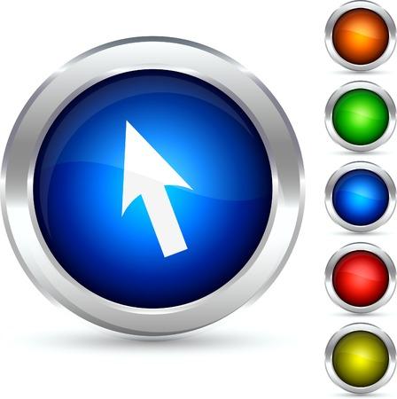 Cursor detailed button. Vector illustration. Stock Vector - 5310653
