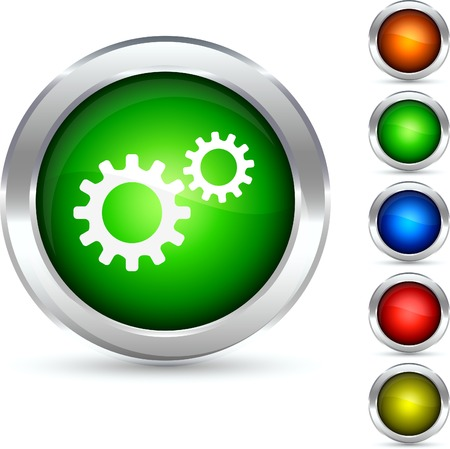 Settings detailed button. Vector illustration.  Vector