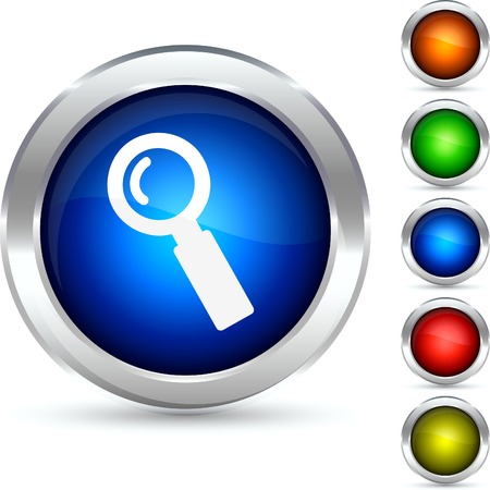 Search detailed button. Vector illustration.  Vector