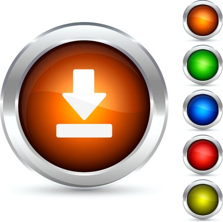 Download detailed button. Vector illustration.  Vector