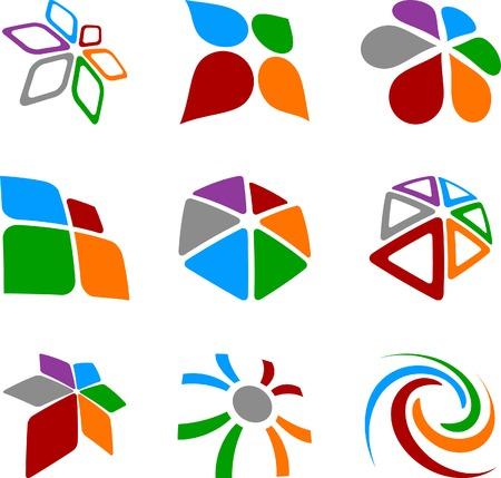 merken: Abstract abstracte symbolen. Vector illustratie.