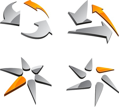 vector web design elements: Abstract abstract symbols. Vector illustration.