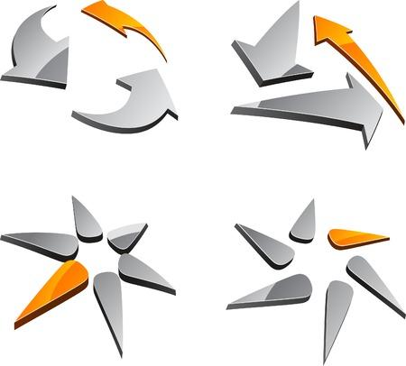variations set: Abstract abstract symbols. Vector illustration.