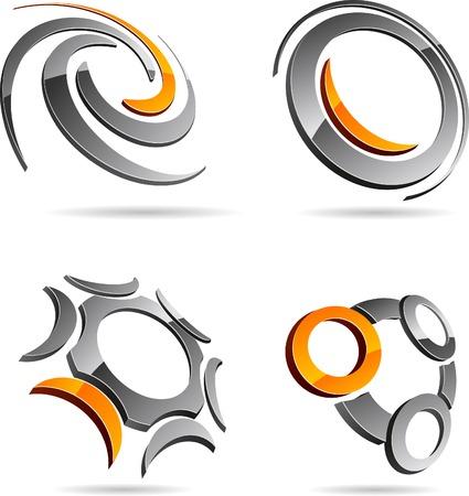 Résumé symboles abstraits. Vector illustration.