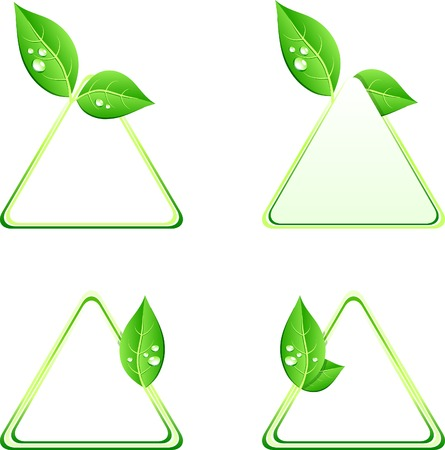 Green ecology backgrounds. Vector illustration. Stock Vector - 5349925