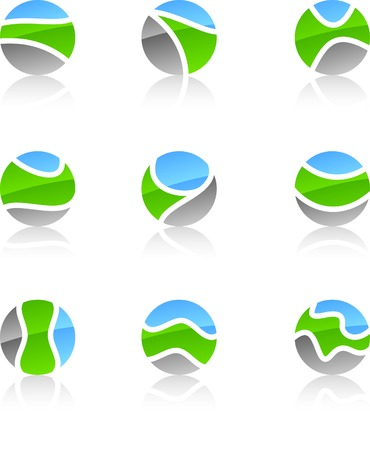 Abstract nature symbols. Vector illustration. Stock Vector - 5349933