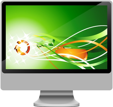 Realistic widescreen lcd. Vector illustration.  Vector