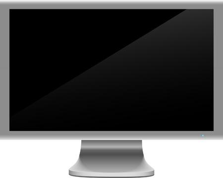 widescreen: Realistic widescreen lcd. Vector illustration.  Illustration