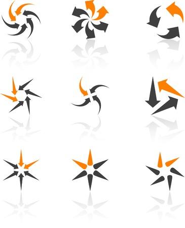 Abstract company symbols. Vector illustration. Stock Vector - 5384442